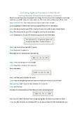 Evaulating Algebraic Expressions