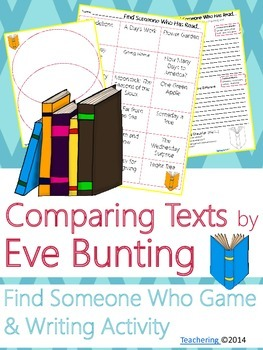 Eve Bunting Author Study {NO PREP Writing Activities & Game}