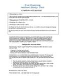 Eve Bunting Author Study Unit- Common Core Aligned