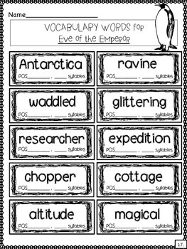 Eve of the Emperor Penguin: A Comprehension and Research Unit Guide for MTH #40