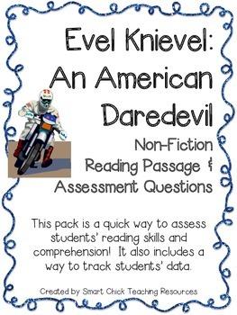Evel Knievel: An American Daredevil ~ A Non-Fiction Readin