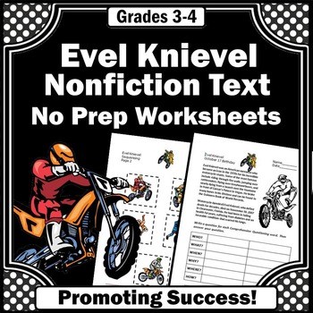 Evel Knievel, Nonfiction Reading Passage, Wh Questions Comprehension
