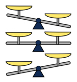 Even Balance Scale and Uneven Balance Scale Clip Art, Mass and Weight, Compare