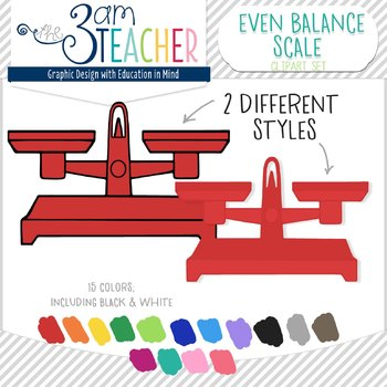 Even Balance Scales Clip Art Set!!