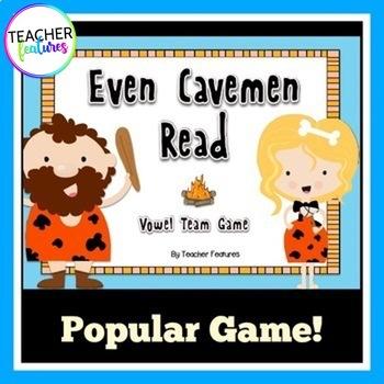Vowel Teams Game   Even Cavemen Read
