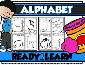 ALPHABET PLAY DOUGH MATS {Correct Letter Formation, Beginning Sounds, Counting}