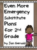 Even MORE Emergency Substitute Plans for 2nd Grade