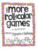 Even MORE Roll & Color Games:  Digraphs and Dipthongs