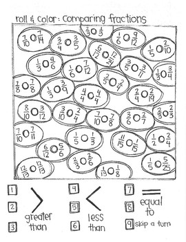Even MORE Roll & Color Games:  Fractions