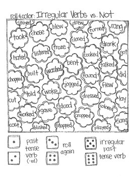 Even MORE Roll & Color Games:  Parts of Speech