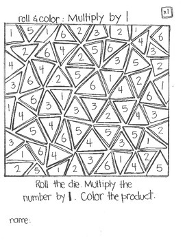 Even MORE Roll & Color:  Multiplication (part 1)