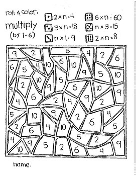 Even MORE Roll and Color Games:  Mixed Multiplication