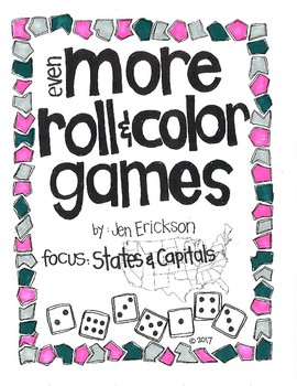 Even MORE Roll and Color:  States and Capitals