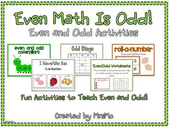 Even Math Is Odd-Even and Odd Counting Practice
