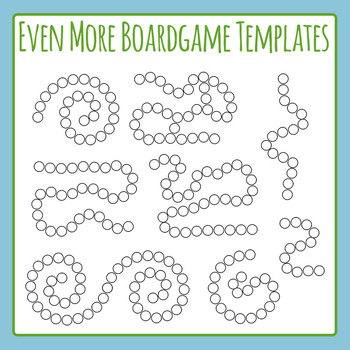 Even More Board Game Templates Clip Art Set for Commercial Use