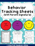 Daily Behavior Charts - 5 New Tracking Sheets with Parent