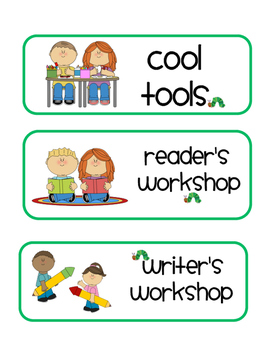 Even More Eric Carle Inspired Schedule Signs