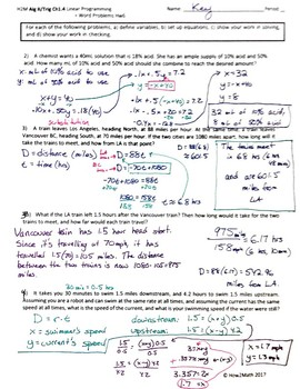 Even More Examples of Word Problems and Linear Programming for Systems