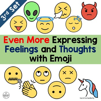 Emoji - Even More Expressing Feelings and Thoughts with Emojis (Set 3)