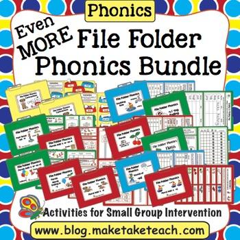 Phonics - Even More! File Folder Phonics Activities