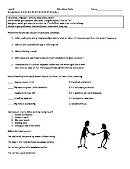 Even More Parts Literacy Packet