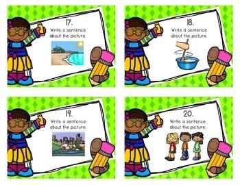 Even More Writing Sentences Task Cards
