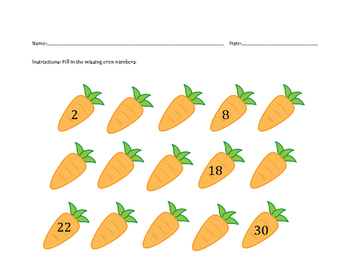 Even Number Counting Carrots