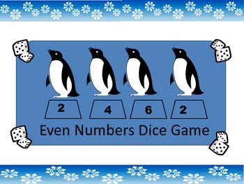 Penguin Even Number Dice Game
