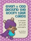 Even & Odd Around the Room Task Cards
