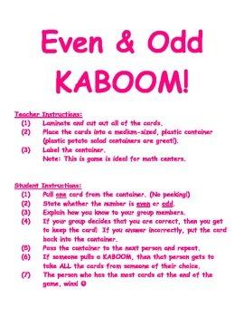 Even & Odd KABOOM