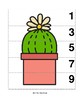 Even & Odd Number Sequence 1-10 Preschool Picture Puzzle -- Potted Cactus