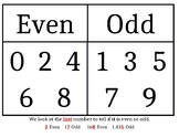Even/Odd Numbers Anchor Chart