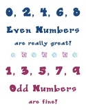 Even & Odd Numbers Song