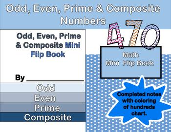 Even, Odd, Prime & Composite Mini Flip Book