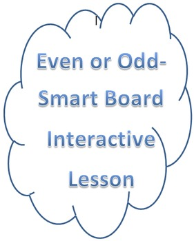 Even-Odd Smart Notebook Activity