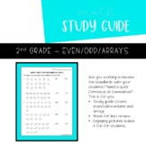 Even/Odd and Array Study Guide | 2nd Grade Printable | Tes
