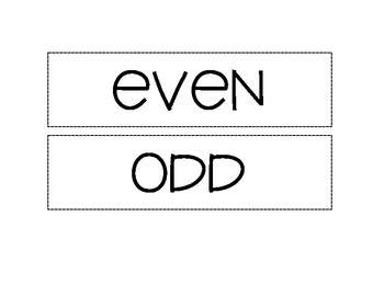 Even & Odd answer sort (2 & 1-digit)