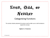 Even, Odd, or Neither - Categorizing Activity