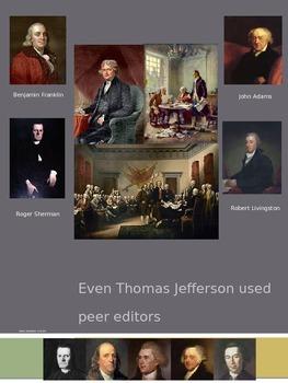 Even Thomas Jefferson Used Peer Editors Mini-Poster
