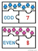 Even and Odd Numbers Game Puzzles for Odd and Even Number Center Activity 2.OA.3