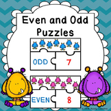 Odd and Even Numbers Game Puzzles for Even and Odd Number Activity Center 2.OA.3