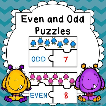 Even and Odd Numbers Game Puzzles for Odd and Even Number