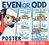 Even and Odd Anchor Chart ★ Odds & Evens Poster for Math T