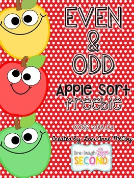 Even and Odd Apple Sort-FREEBIE