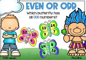 Even and Odd Task Cards Digital BOOM Cards DIFFERENTIATED Bundle