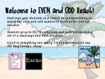 Even and Odd Beach Sorting Game