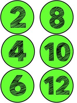 Even and Odd Classroom Signs - Turquoise and Lime Green