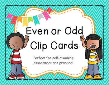 Even and Odd Clip Cards