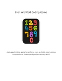 Even and Odd Coding Math Game Computer Science Algorithm Unplugged Center