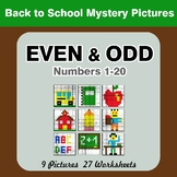 Even and Odd - Color By Number - Back To School Mystery Pictures